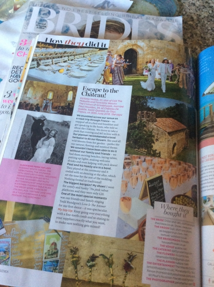 Celebrity Wedding of Call the Midwife star  featured in Brides and Hello mag.... - Dotty Kitchen Catering