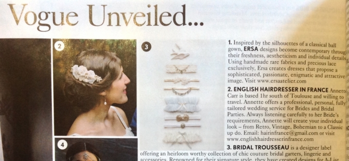 Wedding Hair Stylist as featured in Vogue...... - Dotty Kitchen Catering